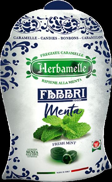 Bonbons Menthe Fabbri / Herbamelle - 75 gr x 8