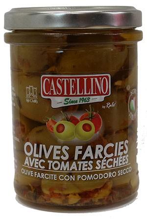 Olives Vertes à la Tomate Séchée